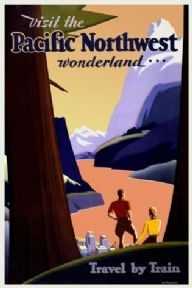 Vintage Travel Poster, Chicago, USA